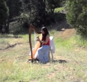 """Simple Gifts"" Sheet Music (Arranged for Celtic Harp) 