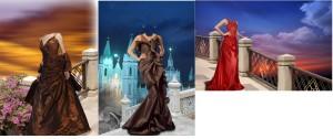 3 woman dress template