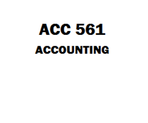 ACC 561 Accounting | eBooks | Education
