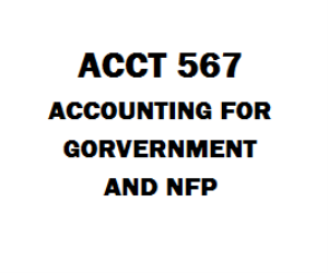 ACCT 567 Accounting for Government and NFP | eBooks | Education