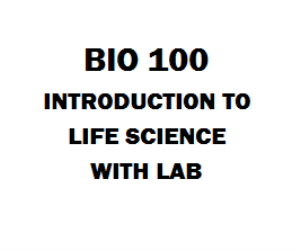 BIO 100 Introduction To Life Science With Lab | eBooks | Education