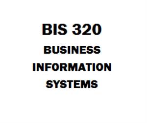 BIS 320 Business Information Systems | eBooks | Education