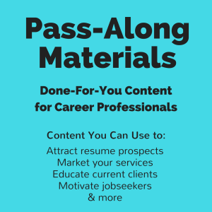 What Do Jobseekers Need Pass-Along Materials | Documents and Forms | Resumes