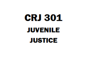 CRJ 301 Juvenile Justice Week 1 to 5 | eBooks | Education