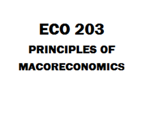 ECO 203 Principles of Macroeconomics Week 1 to 5 | eBooks | Education