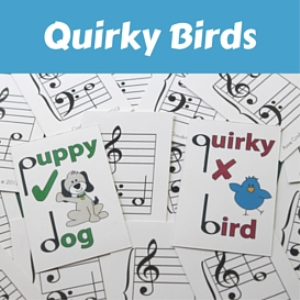 quirky birds and puppy dogs