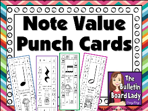 Note Value Punch Cards | Other Files | Everything Else