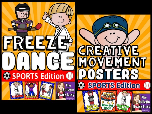 sports freeze dance and creative movement
