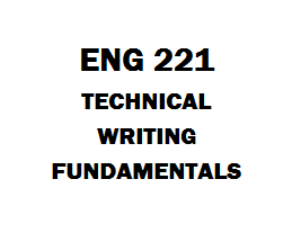ENG 221 Technical Writing Fundamentals | eBooks | Education