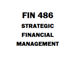 FIN 486 Strategic Financial Management Week 1 to 5 | eBooks | Education