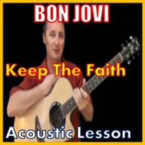 learn to play keep the faith by bon jovi