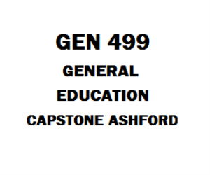 GEN 499 General Education Capstone Week 1 to 5 | eBooks | Education