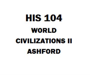 HIS 104 World Civilizations II Ashford | eBooks | Education