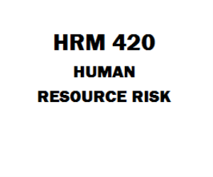 HRM 420 Human Resource Risk Week 1 to 5 | eBooks | Education