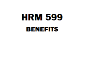 HRM 599 Benefits Week 1 to 8 Assignment, Course Project, DQ, Final | eBooks | Education