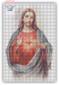 jesus sacred heart cross stitch pattern