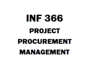 INF 366 Project Procurement Management | eBooks | Education
