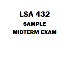 LAS 432 Midterm Exam | eBooks | Education