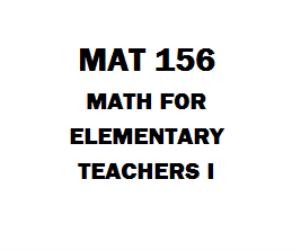 MAT 156 Math for Elementary Teachers 1 | eBooks | Education
