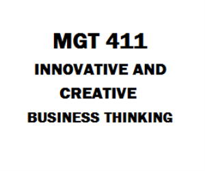 MGT 411 Innovative and Creative Business Thinking | eBooks | Education