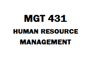 MGT 431 Human Resource Management Week 1 to 5 | eBooks | Education