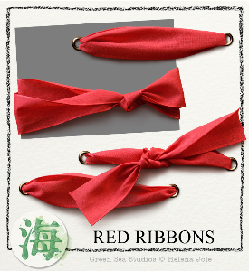 Red Ribbons | Crafting | Paper Crafting | Scrapbooking