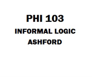 PHI 103 Informal Logic Week 1 to 5 | eBooks | Education