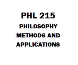 PHL 215 Philosophy, Methods and Applications | eBooks | Education
