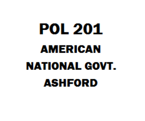 POL 201 American National Government Week 1 to 5 | eBooks | Education