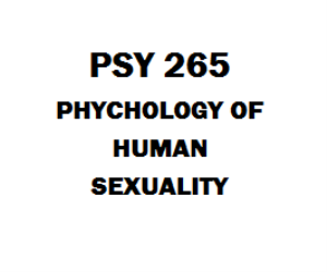 PSY 265 Psychology of Human Sexuality | eBooks | Education