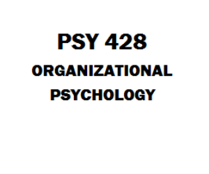 PSY 428 Organizational Psychology Week 1 to 5 | eBooks | Education