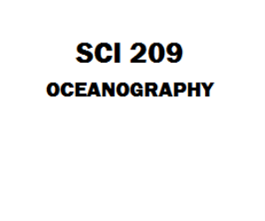 SCI 209 Oceanography Week 1 to 5 Assignment | eBooks | Education