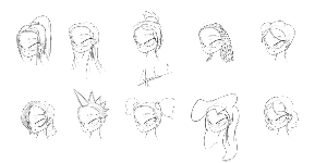 hair sketches