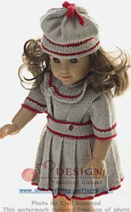 dollknittingpatterns -0122d heidi - blouse, skirt, pant, socks and hat (english)