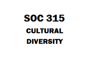 SOC 315 Cultural Diversity Week 1 to 5 | eBooks | Education