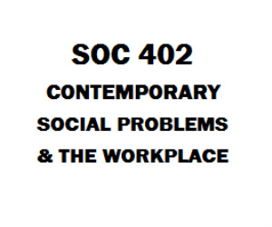 SOC 402 Contemporary Social Problems and the Workplace | eBooks | Education