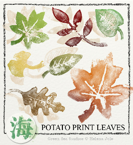 Potato Print Leaves | Crafting | Paper Crafting | Other