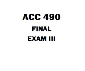ACC 490 Final | eBooks | Education