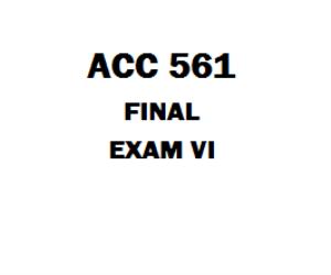ACC 561 Final Exam | eBooks | Education