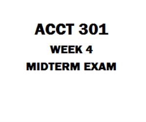 ACCT 301 Midterm Exam | eBooks | Education