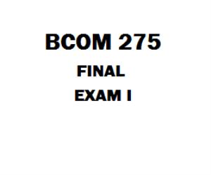 BCOM 275 Final   eBooks   Education
