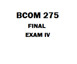 BCOM 275 Final | eBooks | Education