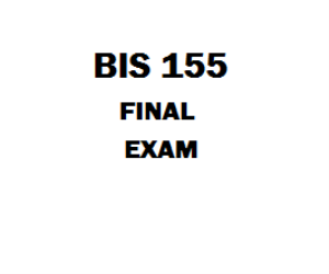 BIS 155 Week 8 Final Exam | eBooks | Education