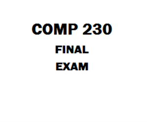 COMP 230 Final Exam | eBooks | Education
