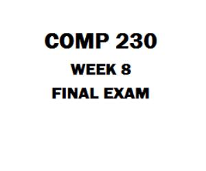 COMP 230  Final Exam | eBooks | Education
