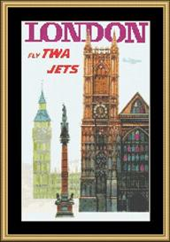 London Vintage Travel | Crafting | Cross-Stitch | Wall Hangings