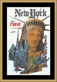 New York Vintage Travel | Crafting | Cross-Stitch | Wall Hangings