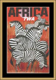Africa Vintage Travel | Crafting | Cross-Stitch | Wall Hangings