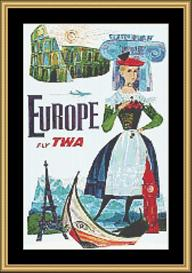 Europe Vintage Travel | Crafting | Cross-Stitch | Wall Hangings