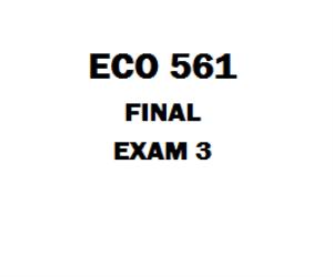 ECO 561 Week 6 Final | eBooks | Education